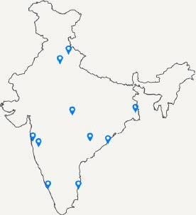 Presence in Key Metros & Smart Cities Across India